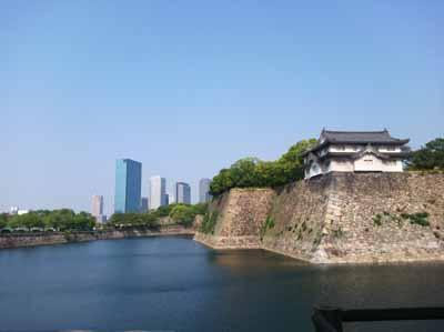 大阪城石垣と堀