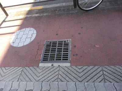 歩道にもあるで! 新大阪区付近