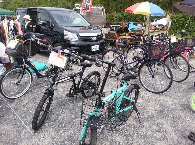 花博フリマで自転車発見 ハマーのミニベロ8000円也