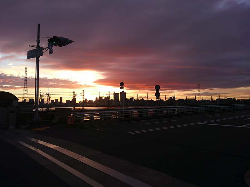 伝法大橋 9月25日午後5時36分