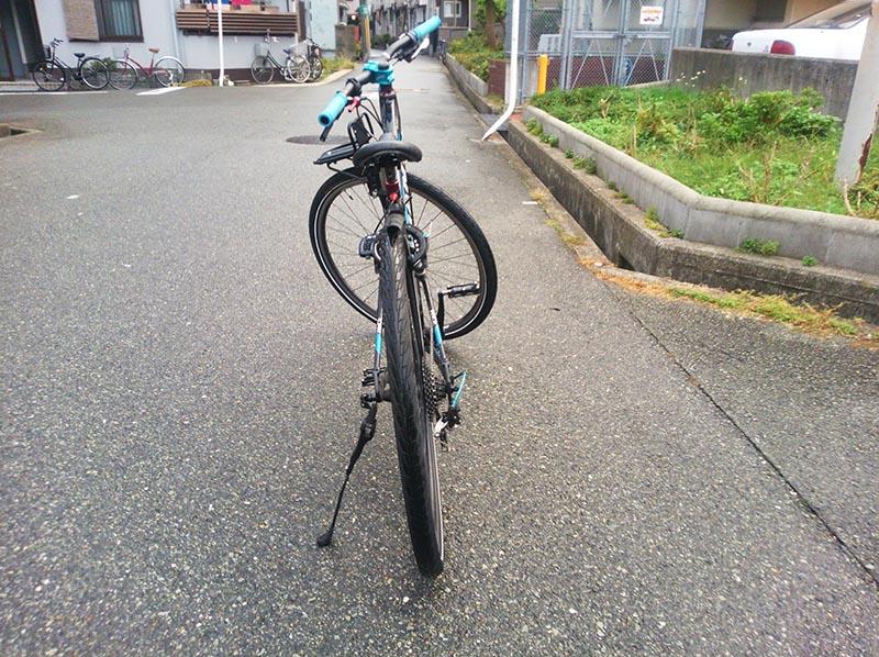 理想的な自転車の傾き