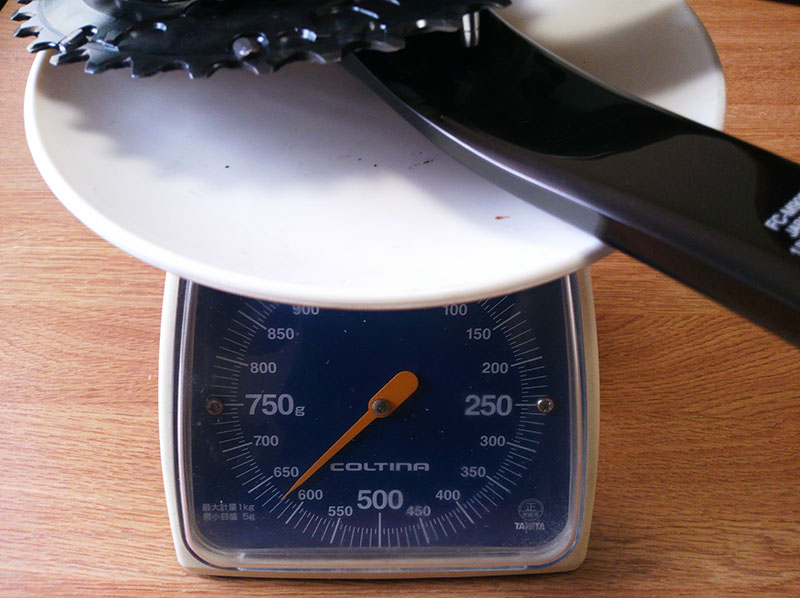 XTR M9020 クランク 重量計測