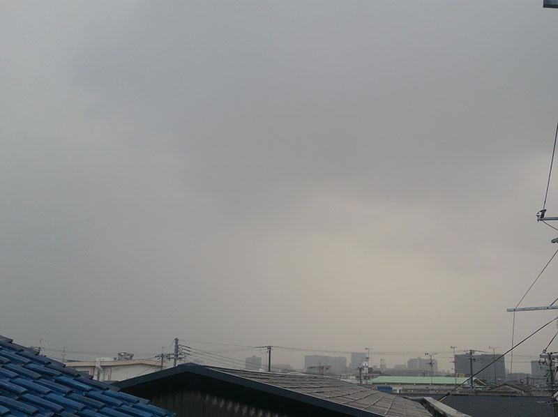 2016月12月9日 大阪市内上空のゲリラ雨