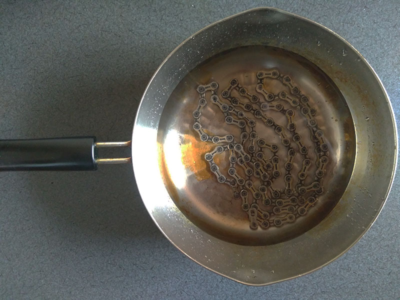 煮沸で油抜き