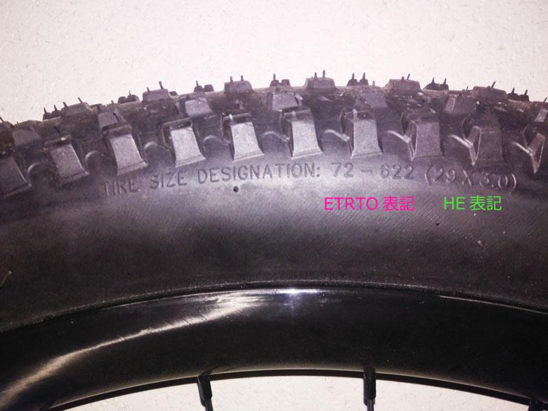 タイヤサイズ表記