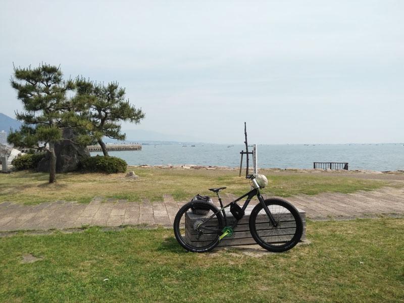琵琶湖到着!