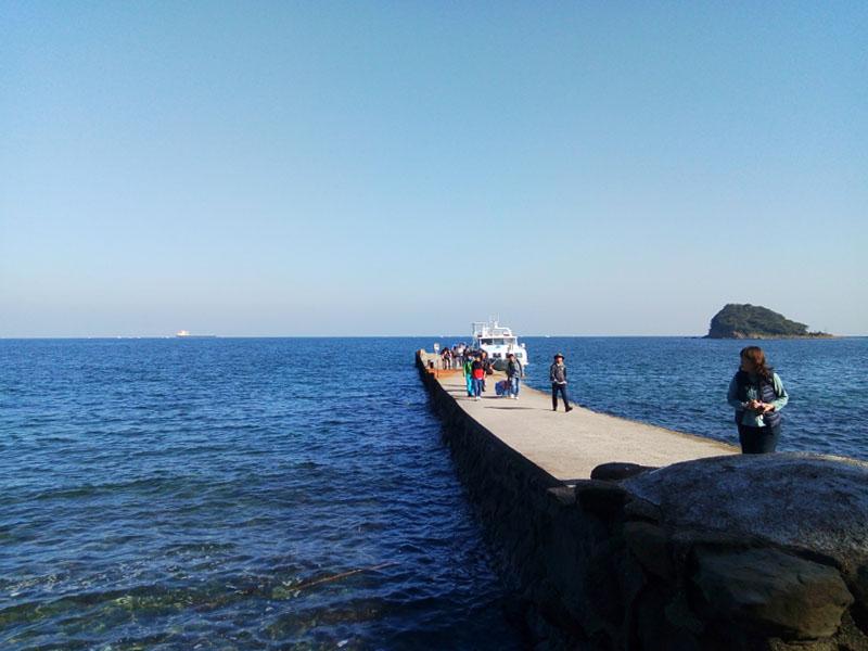 友ヶ島の観光客