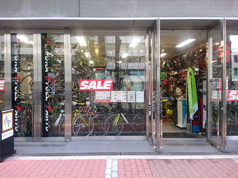 ウエムラサイクルパーツ梅田店外観