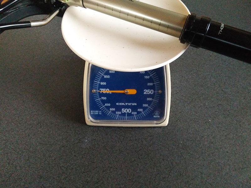 サドルとシートポスト実測750g