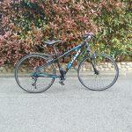 クロスバイクにロード用の23Cロードタイヤを付けてみるが・・・