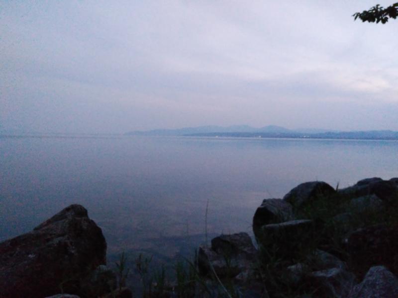 海津大崎からの琵琶湖