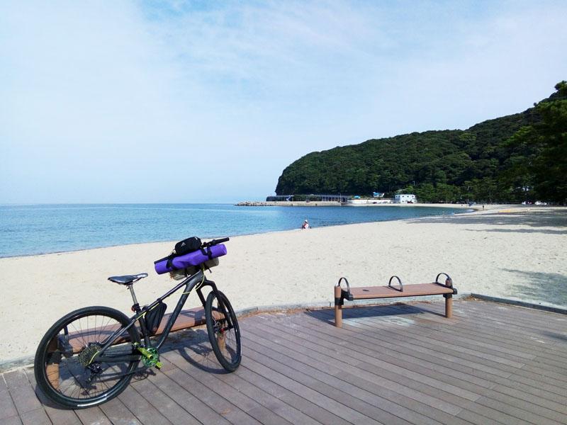 洲本のビーチ