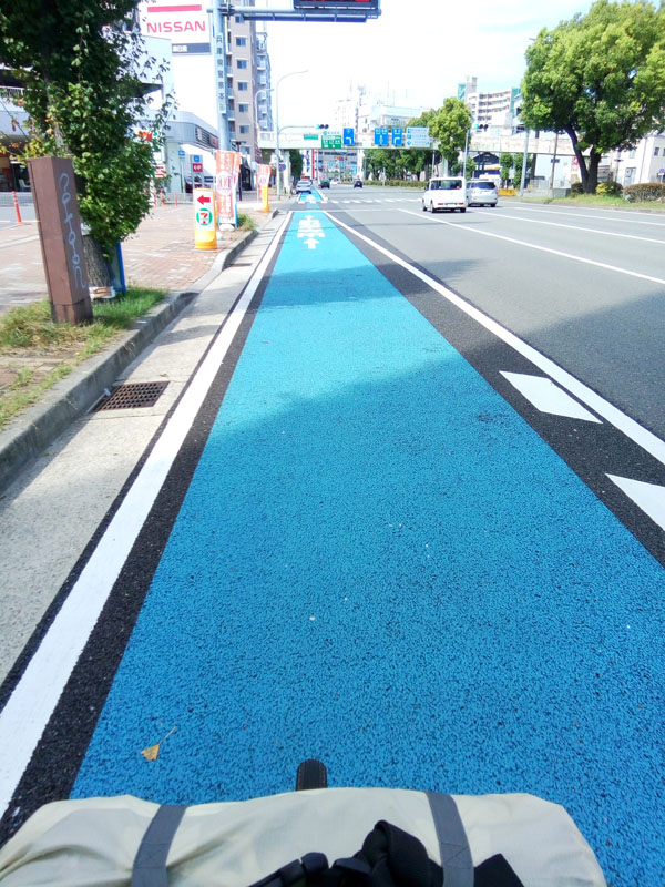 神戸付近自転車レーン