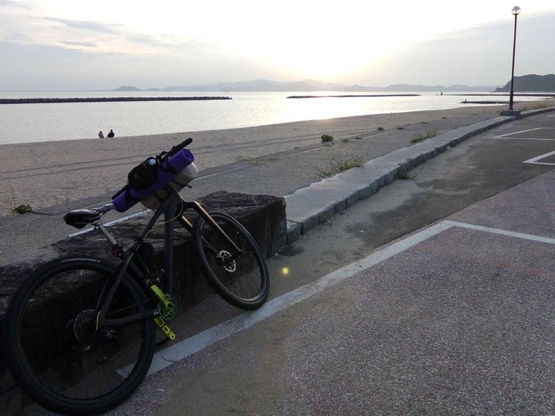 阿万海岸の夕焼け