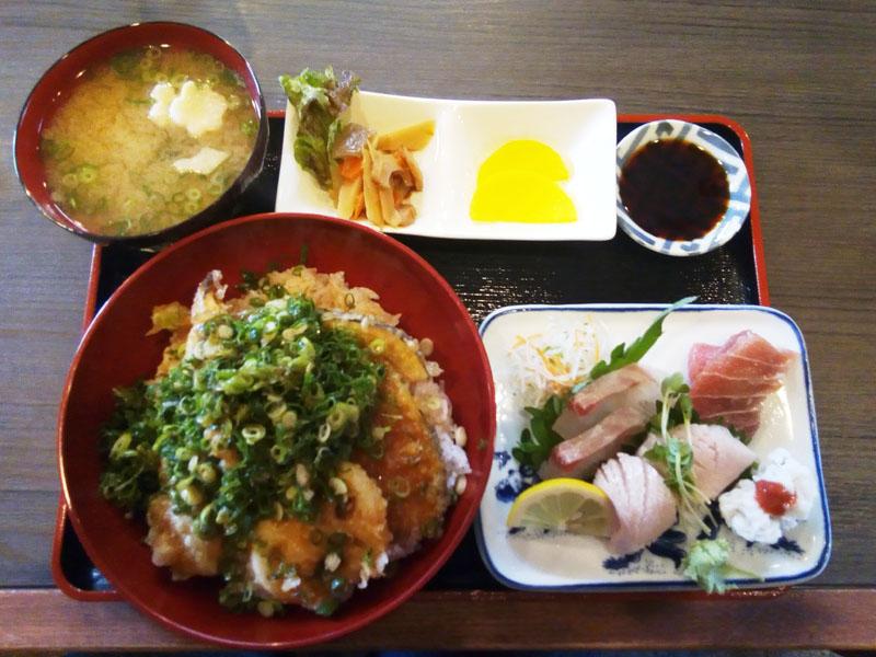 天丼とお造り定食1380円