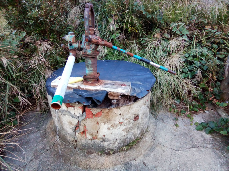 友ヶ島の井戸 飲用不可