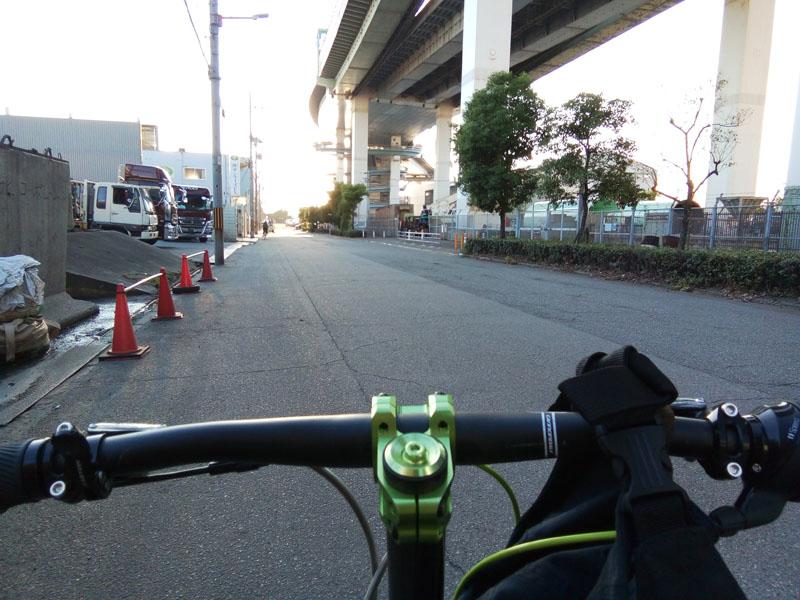 桜島から舞洲への螺旋スロープ