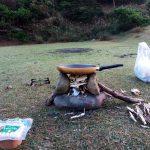 バイクパッキング in 友ヶ島後編 第三砲台跡で見つけた青と赤の秘宝