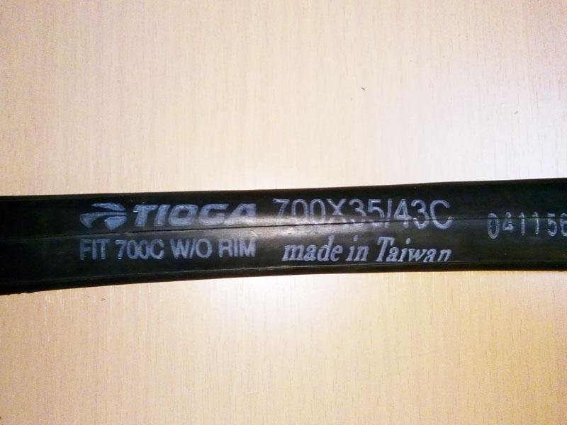 TIOGAのチューブのスタンプ