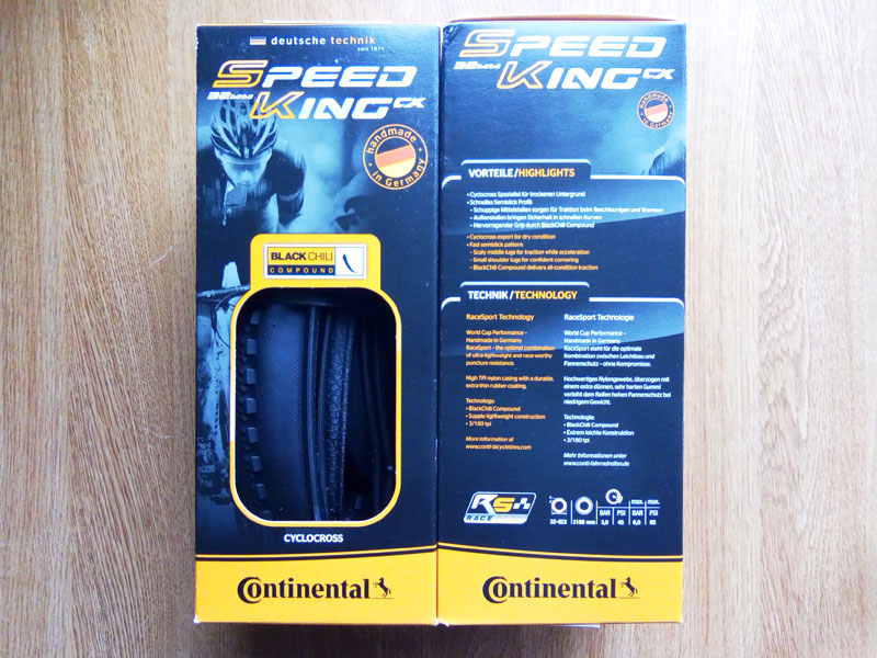 Continental speed king cx