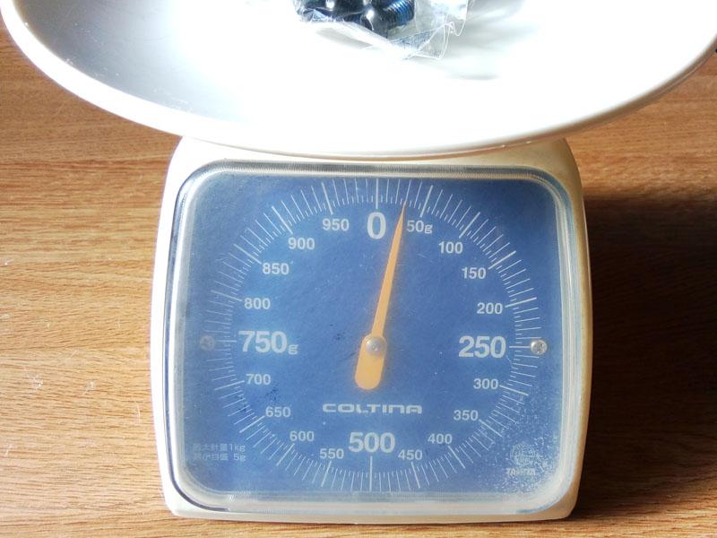 T25 星形ボルト12本分重量
