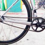ロードバイクのピスト化 なぜか厚歯チェーンぽん付けで固定化完了