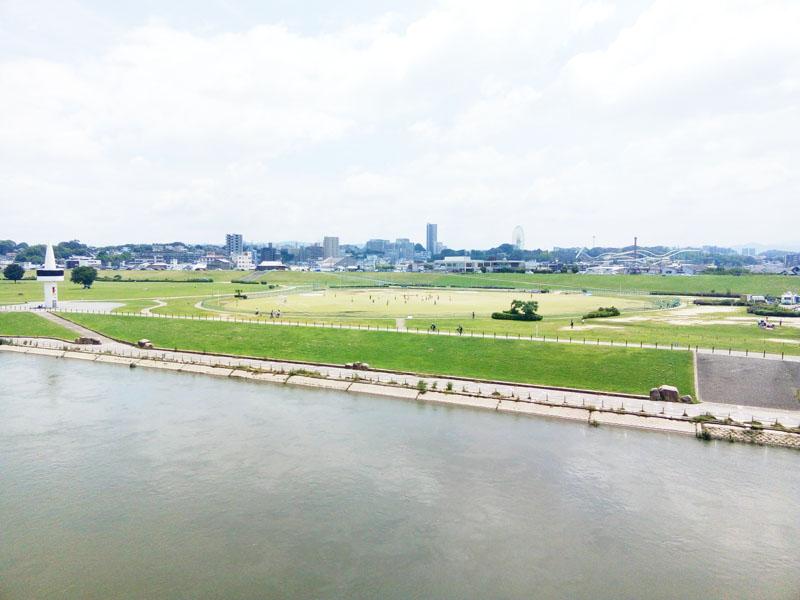 2018年6月枚方大橋よりひらパー付近