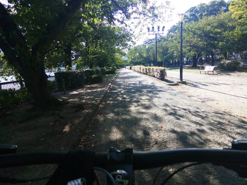 北大阪サイクルライン序盤の公園内