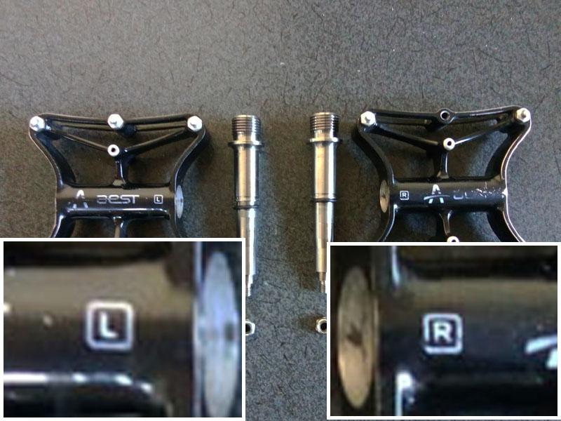 ペダルの左右 R=右 L=左
