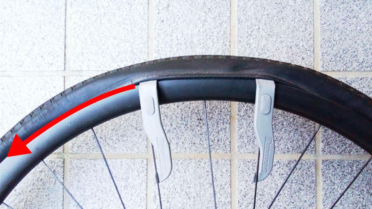 ロードバイクのタイヤ交換