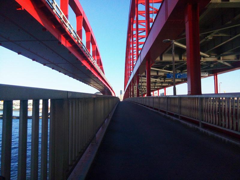 ポートアイランドへの自転車・歩行者橋