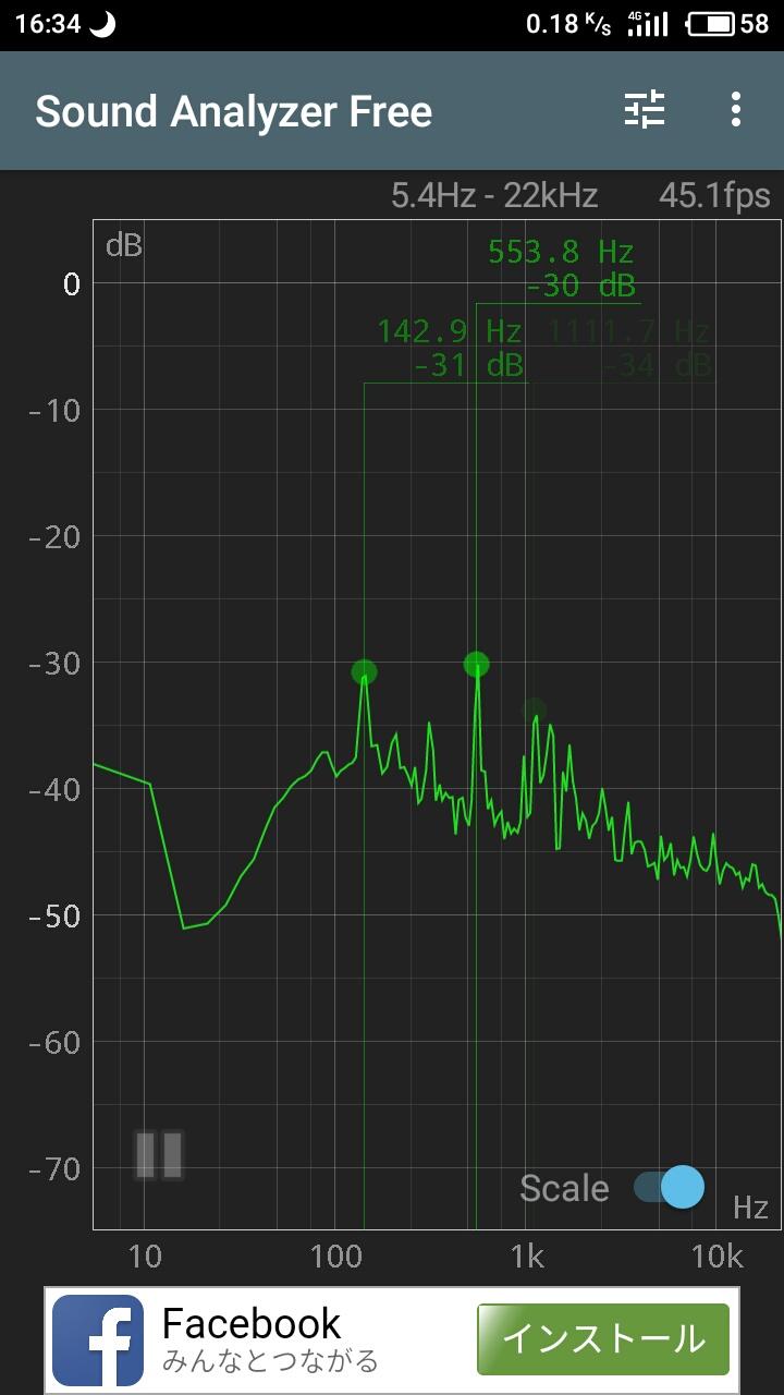 周波数測定アプリ