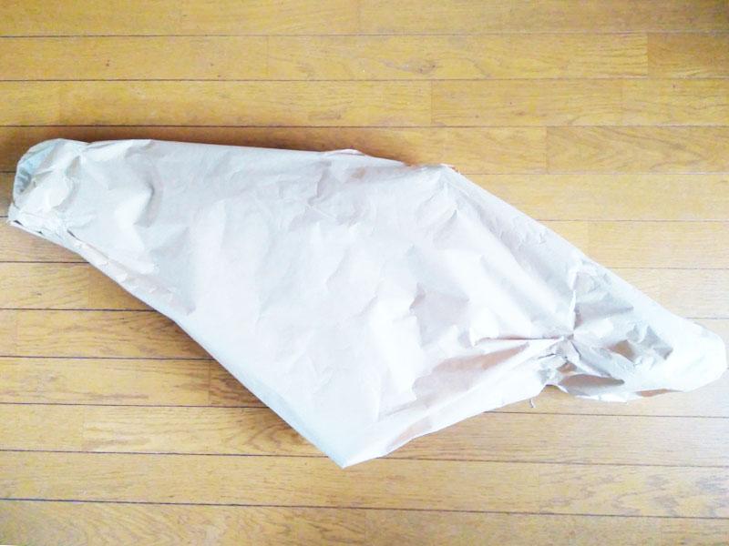 ミニベロフレームの梱包