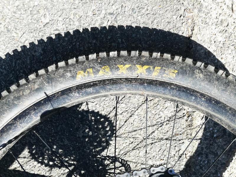 タイヤの汚れ