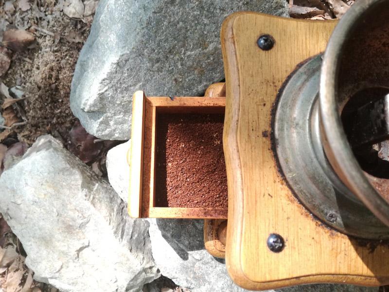 極細引きのコーヒー豆