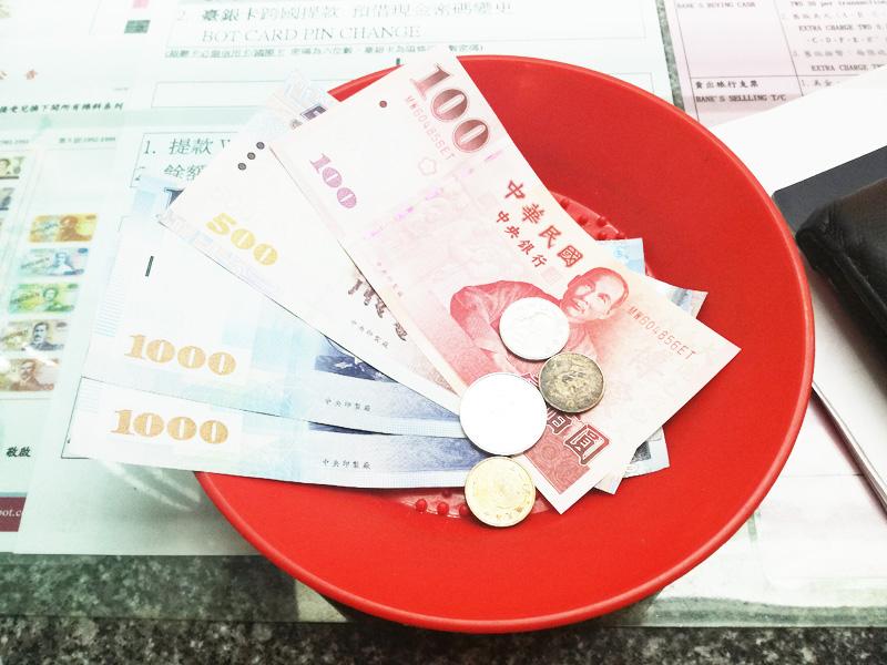 1万円分の台湾ドル