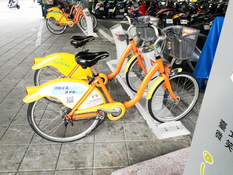 台北のレンタサイクル Youbike