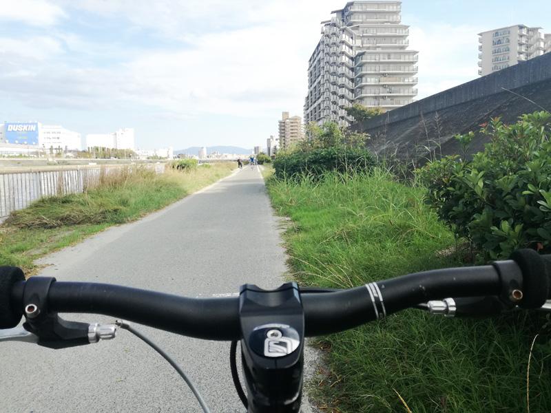 きれいになった自転車道