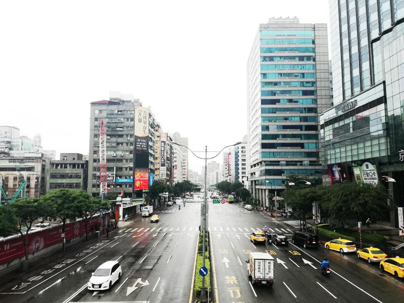台北の道路