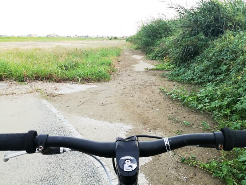桂川緑地のグランド