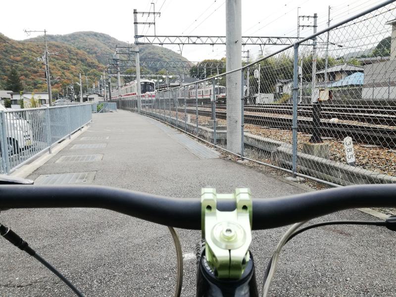 神鉄有馬口駅と神鉄車両