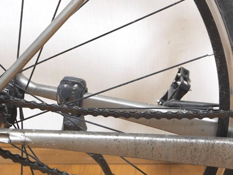 雨天走行後のロードバイクの汚れ