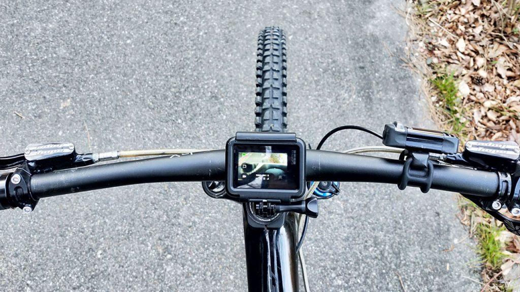 自転車にGoproマウント
