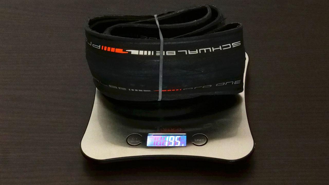 シュワルベプロワンチューブレス実測重量