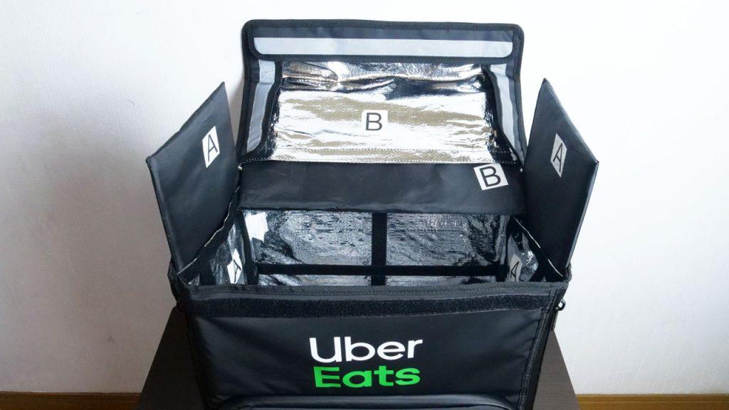 Uber Eats のバッグの組み立て