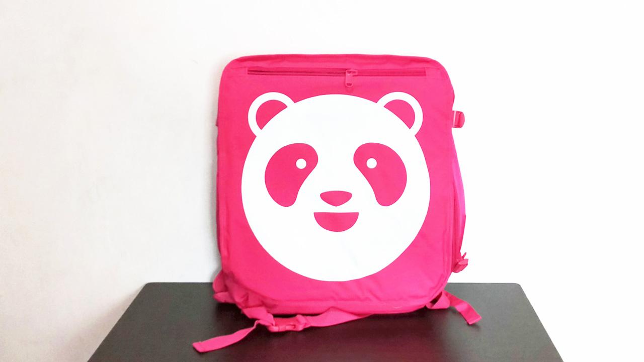 foodpandaのバッグ