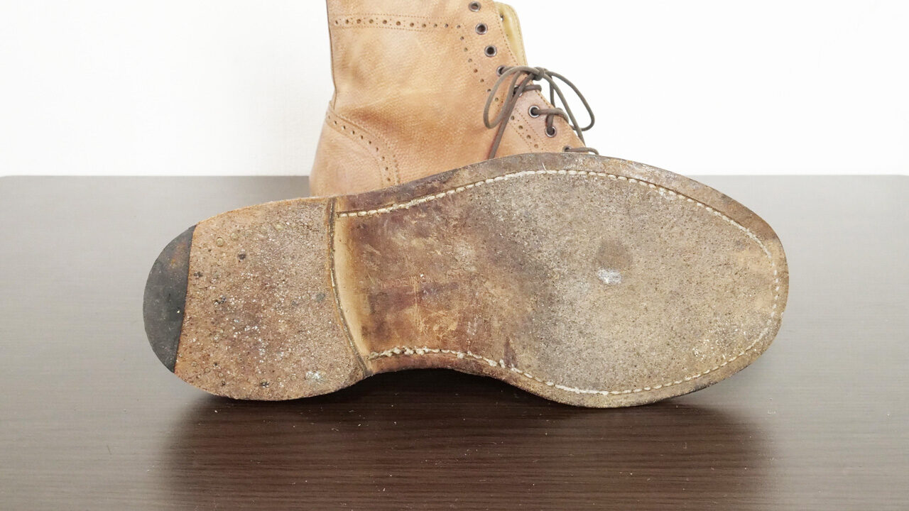 革靴のアウトソール
