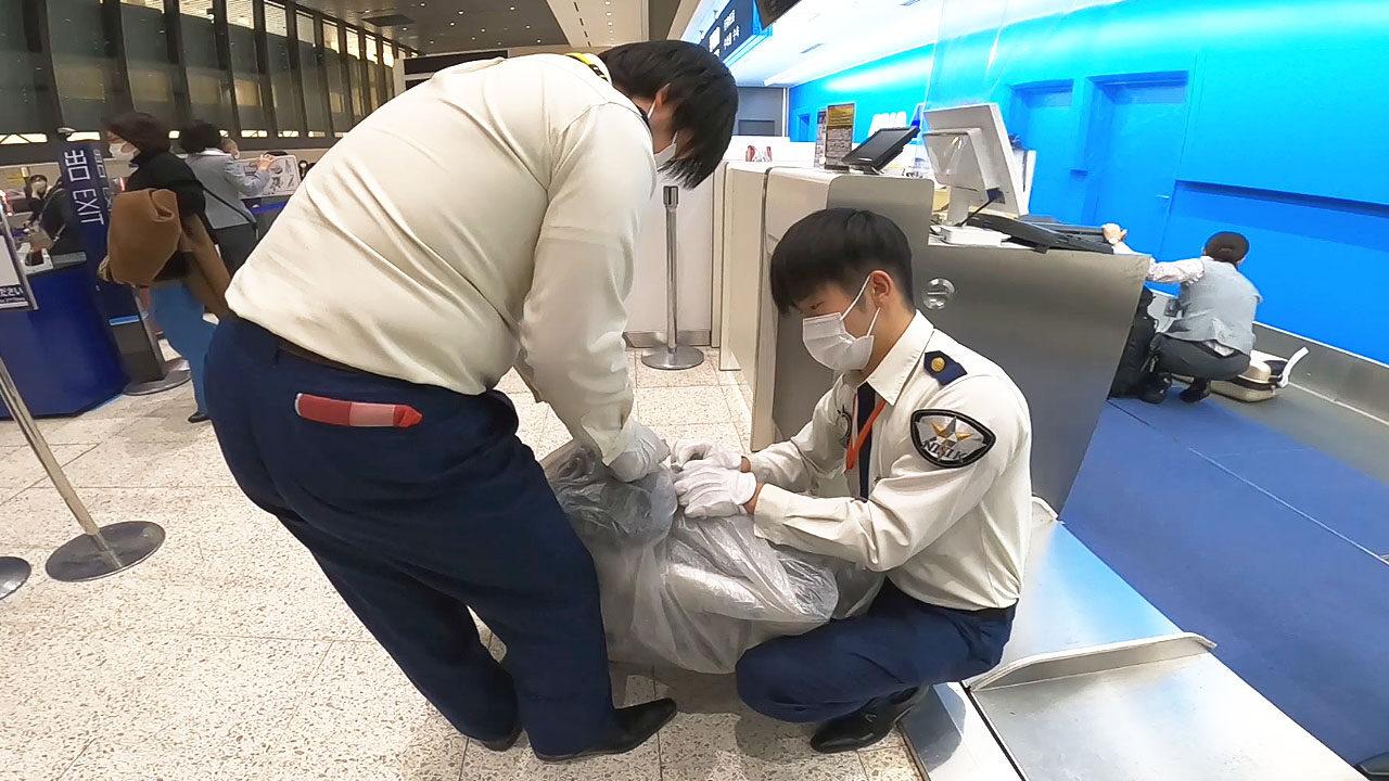 飛行機輪行の手荷物検査